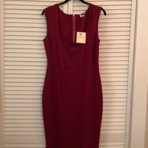 Red Wine Rolla Coster fitted dress size L